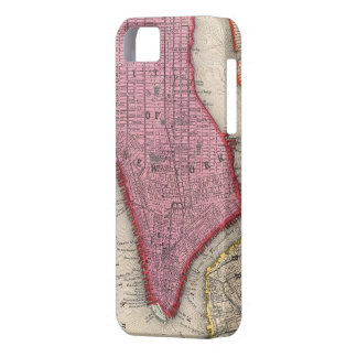 Vintage Map of Lower New York City (1860) Case For The iPhone 5