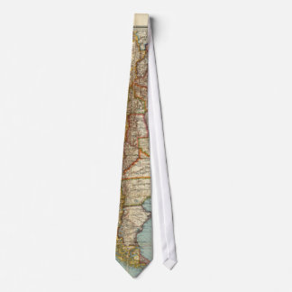Vintage Map of Lower South America (1914) Tie