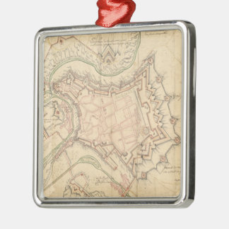 Vintage Map of Luxembourg (1686) Christmas Ornament