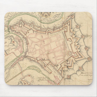 Vintage Map of Luxembourg (1686) Mouse Pad