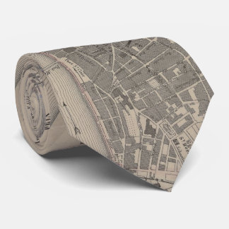 Vintage Map of Lyon France (1854) Tie
