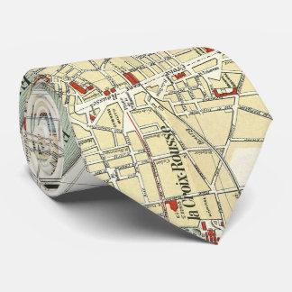 Vintage Map of Lyon France (1900) Tie