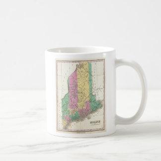 Vintage Map of Maine (1827) Basic White Mug
