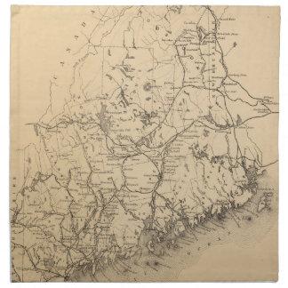 Vintage Map of Maine (1894) Napkin