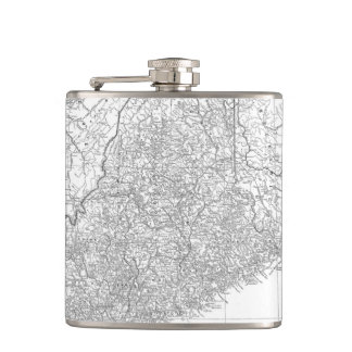 Vintage Map of Maine (1911) Hip Flask