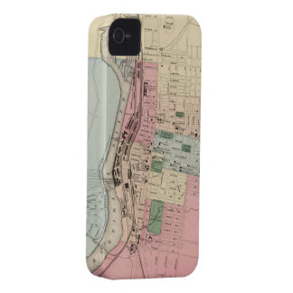 Vintage Map of Manchester New Hampshire (1877) iPhone 4 Cases