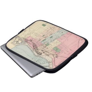 Vintage Map of Manchester New Hampshire (1877) Laptop Computer Sleeve