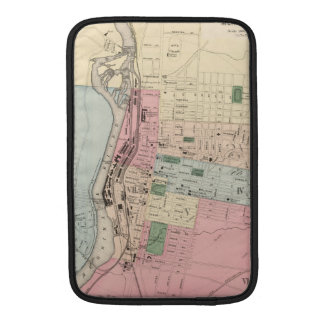 Vintage Map of Manchester New Hampshire (1877) MacBook Sleeves