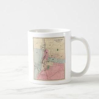 Vintage Map of Manchester New Hampshire (1877) Basic White Mug