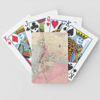 Vintage Map of Manchester New Hampshire (1877) Bicycle Playing Cards
