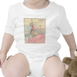 Vintage Map of Manchester New Hampshire (1877) Baby Bodysuits