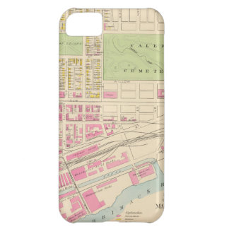 Vintage Map of Manchester NH (1892) (2) iPhone 5C Cover