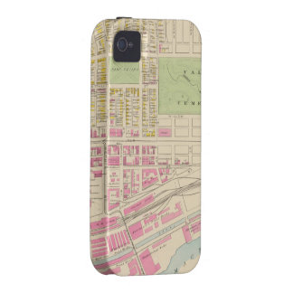 Vintage Map of Manchester NH 1892 2 Case-Mate iPhone 4 Case