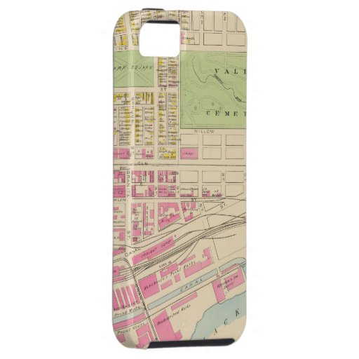 Vintage Map of Manchester NH (1892) (2) iPhone 5 Cover