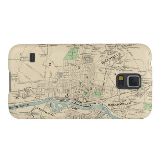 Vintage Map of Manchester NH 1892 Galaxy Nexus Cases