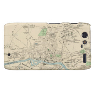 Vintage Map of Manchester NH 1892 Droid RAZR Covers