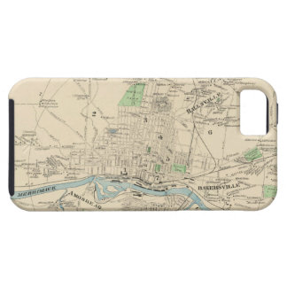 Vintage Map of Manchester NH 1892 iPhone 5 Cases