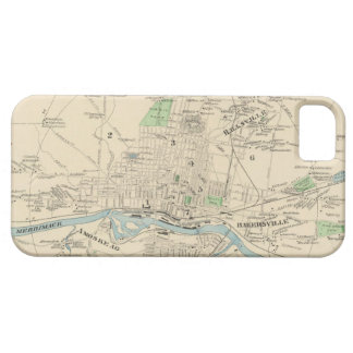 Vintage Map of Manchester NH 1892 iPhone 5 Covers