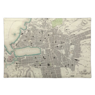 Vintage Map of Marseille France (1840) Place Mats