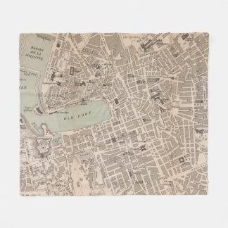 Vintage Map of Marseille France (1896) Fleece Blanket