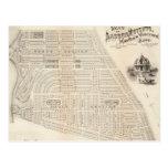 Vintage Map of Marthas Vineyard (1873) Postcard