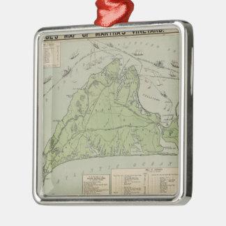 Vintage Map of Marthas Vineyard (1913) Christmas Ornament