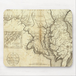 Vintage Map of Maryland (1796) Mouse Pad