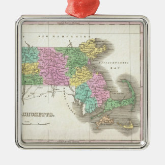Vintage Map of Massachusetts (1827) Christmas Ornament