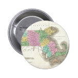 Vintage Map of Massachusetts (1827) Pinback Button