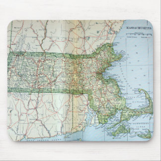 Vintage Map of Massachusetts (1905) Mouse Pads