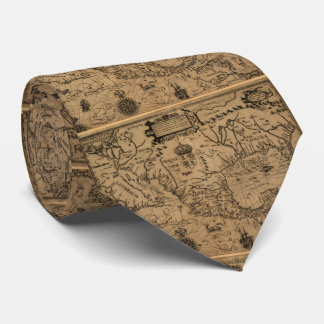 Vintage Map of Mexico (1600) Tie