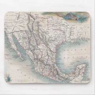 Vintage Map of Mexico (1851) Mouse Pad