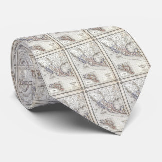 Vintage Map of Mexico (1852) Tie