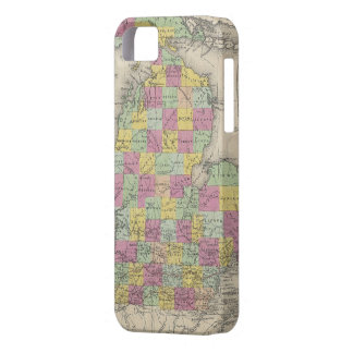 Vintage Map of Michigan (1853) Case For The iPhone 5