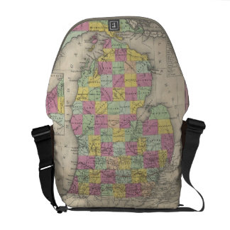 Vintage Map of Michigan (1853) Courier Bag