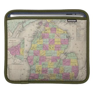 Vintage Map of Michigan (1853) iPad Sleeve