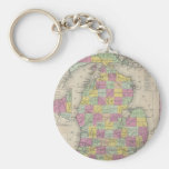 Vintage Map of Michigan (1853) Keychain
