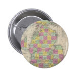 Vintage Map of Michigan (1853) Pinback Buttons