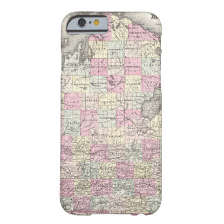 Vintage Map of Michigan (1855) Barely There iPhone 6 Case
