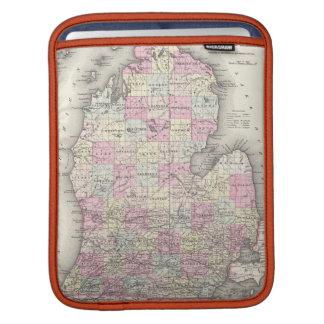 Vintage Map of Michigan (1855) iPad Sleeve
