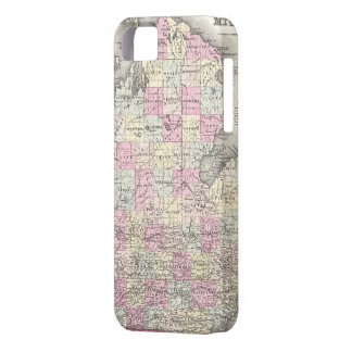 Vintage Map of Michigan (1855) iPhone 5 Case