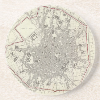 Vintage Map of Milan Italy (1832) Coaster