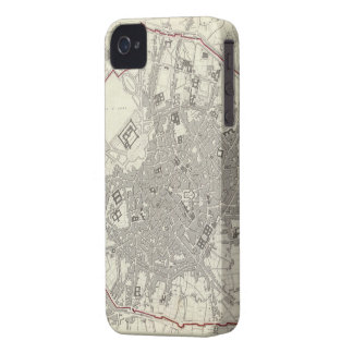Vintage Map of Milan Italy (1832) iPhone 4 Covers