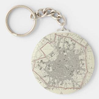 Vintage Map of Milan Italy (1832) Key Ring