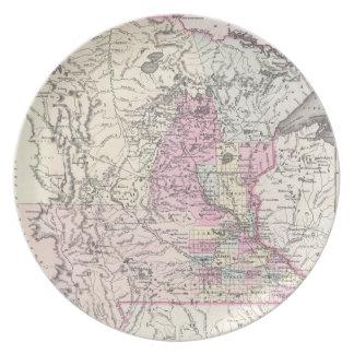 Vintage Map of Minnesota (1855) Plate