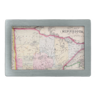 Vintage Map of Minnesota (1864) Belt Buckle