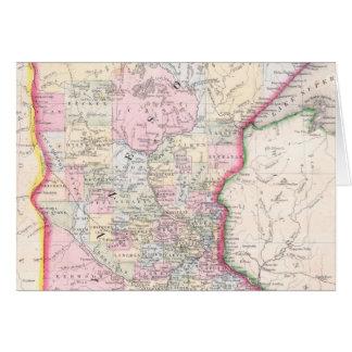 Vintage Map of Minnesota (1864) Card