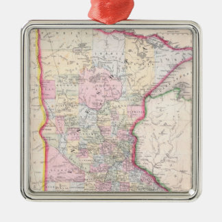 Vintage Map of Minnesota (1864) Christmas Ornament