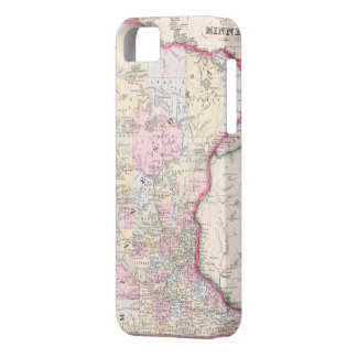 Vintage Map of Minnesota (1864) iPhone 5 Cases