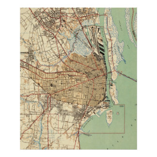 Vintage Map of Mobile Alabama (1940) 2 Poster